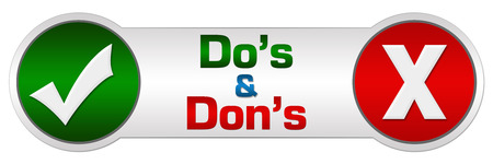 dos: Dos Donts Red Green Two Circles