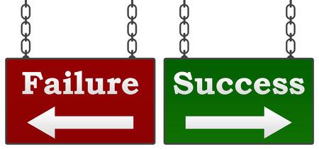 chose: Success Failure Signboards