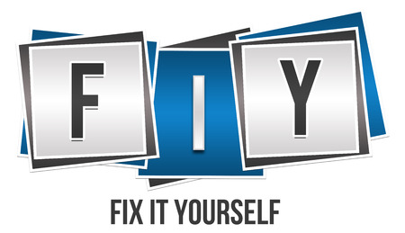 yourself: FIY - Fix It Yourself Blue Grey Blocks