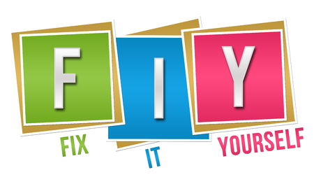 yourself: FIY - Fix It Yourself Colorful Blocks