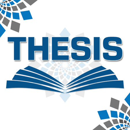 thesis: Thesis Text With Book Symbol Stock Photo