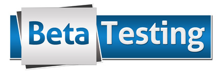 Beta Testing Blue Grey Horizontal Stock Photo