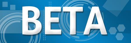 beta: Beta Text Over Blue Background