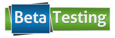 beta: Beta Testing Green Blue Horizontal Stock Photo