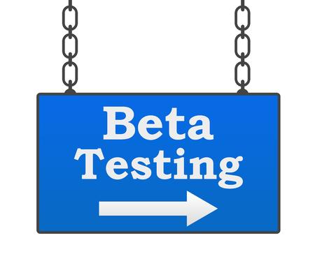 beta: Beta Testing Signboard