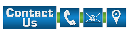 Contact Us Green Blue Layout