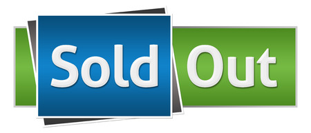 sold: Sold Out Blue Green Horizontal
