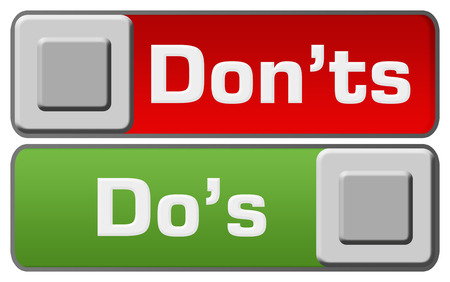 dos: Dos Donts Green Red Switches Stock Photo