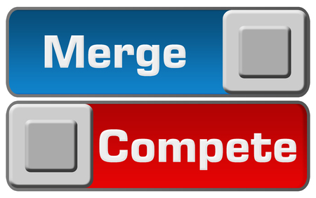 blue  red: Merge Compete Blue Red