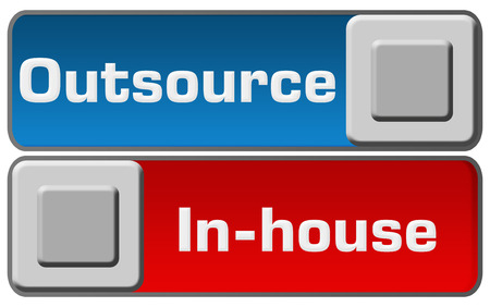 outsource: Outsource In-House Blue Red Switches