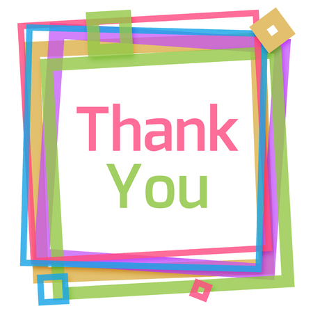 colorful frame: Thank You Colorful Frame
