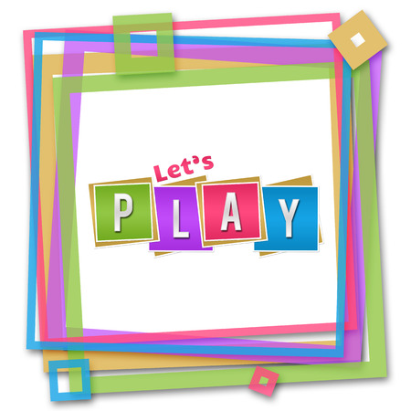 Lets Play Colorful Frame