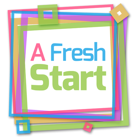 revive: A Fresh Start Colorful Frame Stock Photo