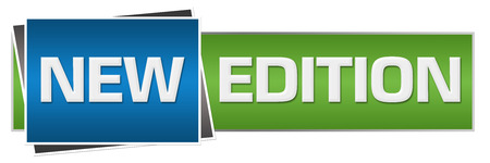 addendum: New Edition Green Blue Horizontal Stock Photo