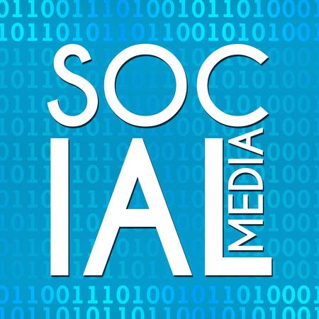 binary background: Social Media Binary Background