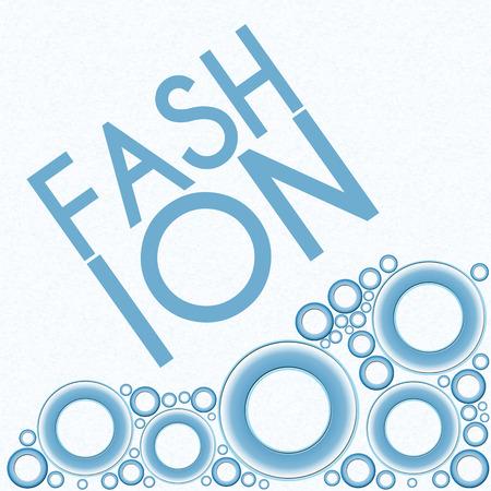 fashion show: Fashion Text Blue Rings