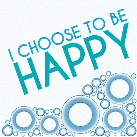 hope: I Choose To Be Happy Blue Rings Stock Photo