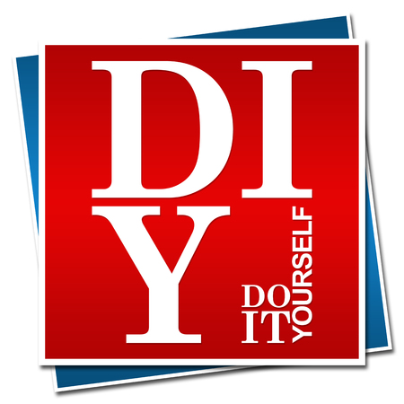 do it yourself: DIY - Do It Yourself Red Blue Square
