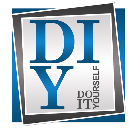 do it yourself: DIY - Do It Yourself Blue Grey Square