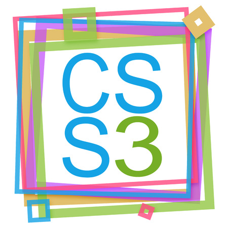 css: CSS 3 Colorful Frame Stock Photo