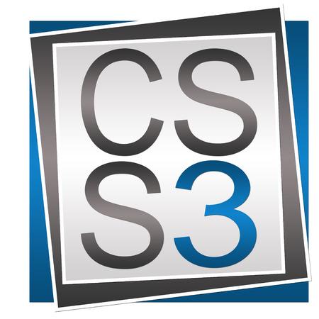 css: CSS 3 Blue Grey Block