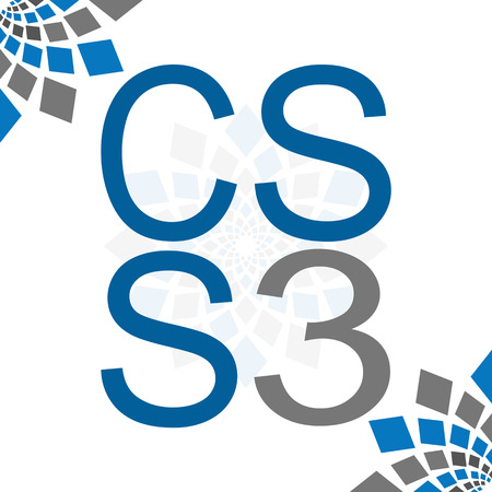 css: CSS 3 White Background Blue Grey Elements
