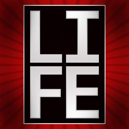 rouge et noir: Life Text Red Black Burst