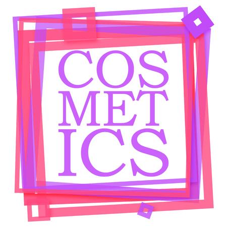 beautification: Cosmetics Text Purple Pink Frame
