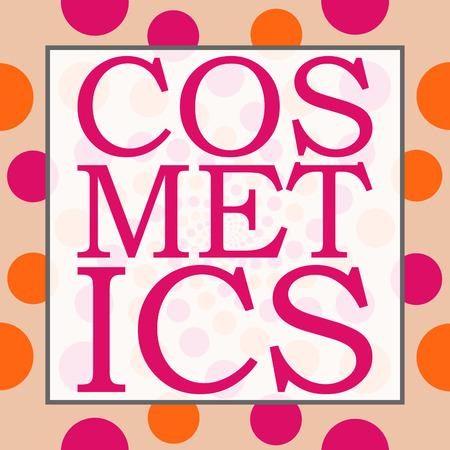 beautification: Cosmetics Peach Pink Circles Square
