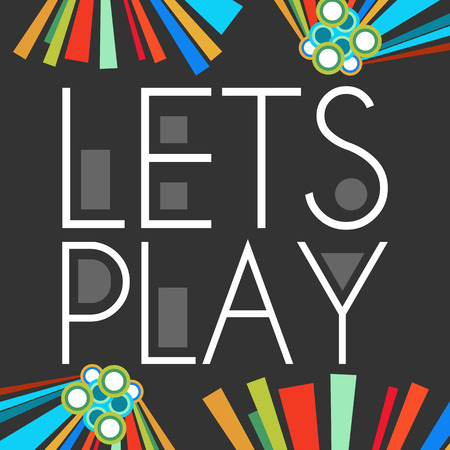 Lets Play Dark With Colorful Elements