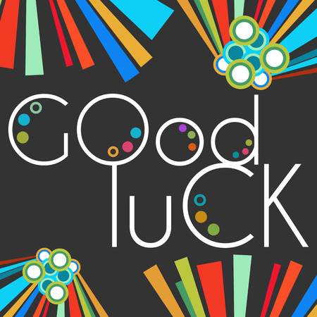 black luck: Good Luck Text Black Colorful Elements