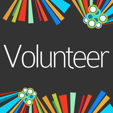 voluntary: Volunteer Dark Colorful Elements Stock Photo