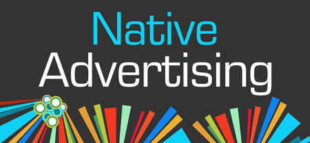 online bidding: Native Advertising Dark Colorful Elements