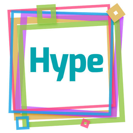 hype: Hype Colorful Frame Stock Photo