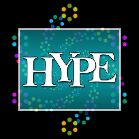 hype: Hype Text Dark Colorful Neon Stock Photo