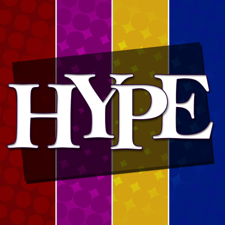 hype: Hype Text Colorful Halftone Background