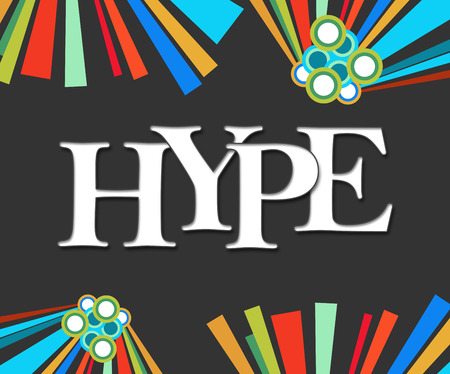 hype: Hype Text Dark Colorful Elements
