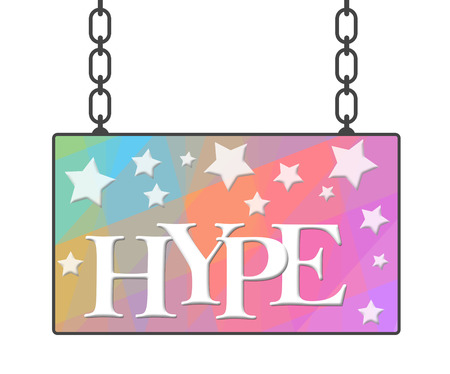 hype: Hype Text Colorful Signboard