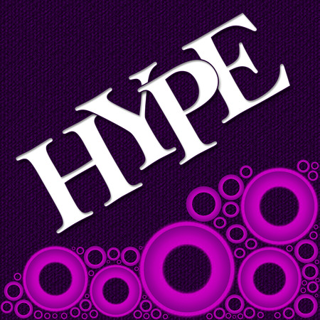 hype: Hype Text Purple Pink Rings