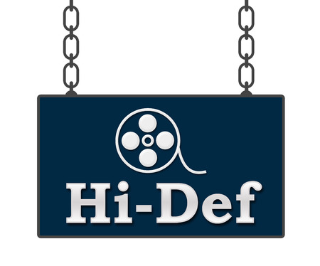 hidef: Hi-Def Signboard Stock Photo