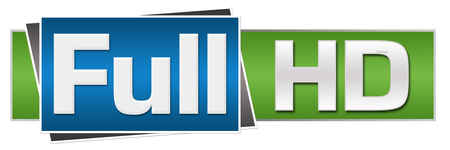 high def: Full HD Green Blue Button Style