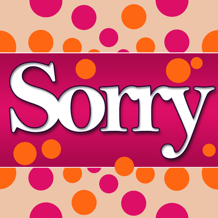 condolence: Sorry Peach Pink Circles Stock Photo