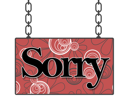 remorse: Sorry Floral Background Signboard