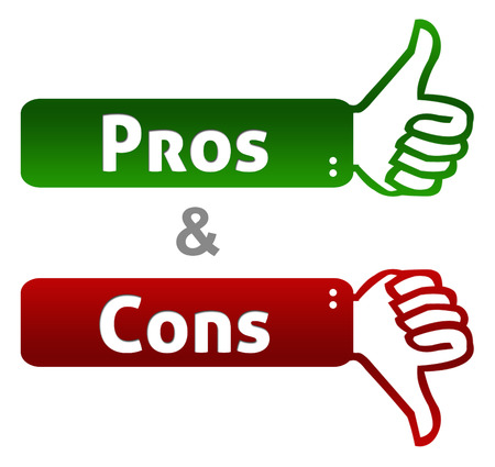 cons: Pros And Cons Thumb Up Down