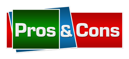 cons: Pros And Cons Red Green Blue Horizontal