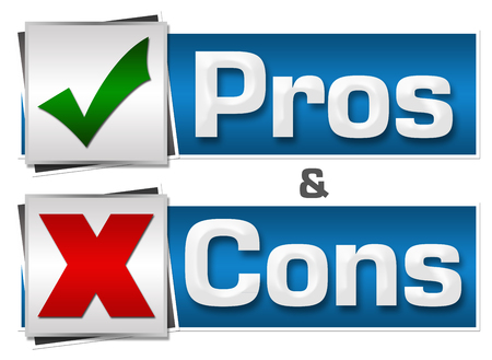 pros: Pros And Cons Buttons Set