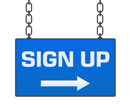 signboard form: Sign Up Signboard Stock Photo