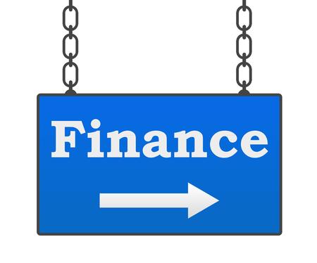a signboard: Finance Signboard