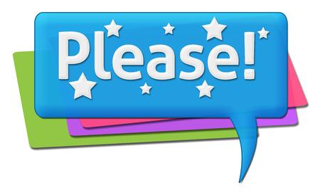 please: Please Colorful Comments Symbols