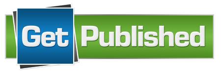 published: Get Published Green Blue Horizontal